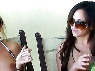 Dark Haired Honey Lynn Love And Her Blonde Gf Molly Cavalli Are...